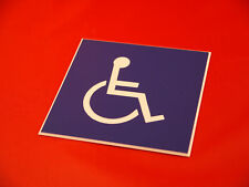 Engraved Disabled Symbol Signs  -  100mm x 100mm