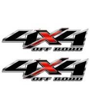4x4 Truck Decal Black Red Off Road Sticker compatible with Chevy Silverado