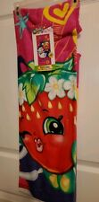 "NEW SHOPKINS SNEAKY STRAWBERRY KISS BEACH TOWEL 28"" X 58"" SUMMER"