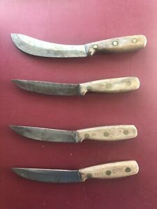 4-1970's - Old Sturdy Butchering/Boning Knives - EARLY CHICAGO CUTLERY - ECU
