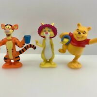 Disney Winnie the Pooh Tigger Rabbit Hundred Acre Wood Figures Lot of Three