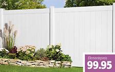 Kunststoff Zaun geschlossen weiß, Streichfrei, Sichtschutzzaun, Zaun
