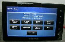 Crestron TSW-750-B-S Touch Screen Very Good Condition Factory Reset Warranty inc