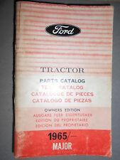 Ford tracteurs MAJOR 1965 : catalogue de pièces