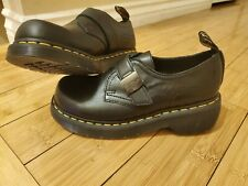 Dr. Martens Aukley Luxor Buckle Loafers Clog Women's Shoes Leather Black Size 8