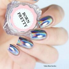 0.5g/Box Nail Art Glitter Holographic Laser Rainbow Powder Holo Chrome Pigment