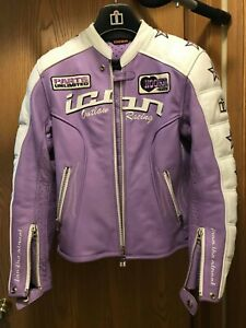 """Women's Motorcycle Leather jacket ICON """"Kitty"""" Small S WORN 3 times"""