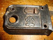 Door Latch Dead Bolt Slide Strike Cast Iron Antique Vintage Black