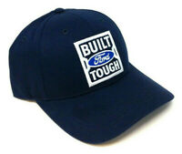 NAVY BLUE FORD BUILT TOUGH 3D EMBROIDERED LOGO ADJUSTABLE CURVED BILL HAT CAP