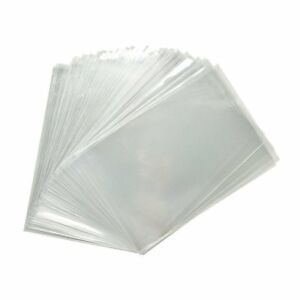 200x Clear Flat Cello/Cellophane Treat Bag 2x4 inch (1.2mil) Gift Basket