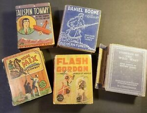 Big Little Books Vintage Bundle Daniel Boone Tail Spin Tommy Tom Mix Flash Gordo