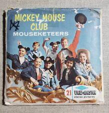 1956 Walt Disney MICKEY MOUSE CLUB MOUSEKETEERS 3 Reel Set + Booklet