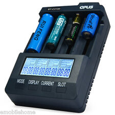 Opus BT - C3100 V2.2 Digital Intelligent 4 Slots LCD Chargeur de batterie