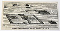 small 1883 magazine engraving ~ TEMPLE-TOMBS, TENAMPUA, HONDURAS