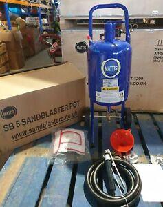Sand Blast pot Mattis SB5 Abrasive Blaster Pot 5 gal. Restoration Pressure pot