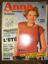 Anna Burda Ouvrages Manuels N°6 1984 Tricot Tissage Couture Broderie PATRONS