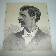 1884 magazine engraving ~ BARTLEY CAMPBELL, American Playwright