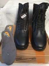 GOLIATH SAFETY BOOTS BLACK HOT WEATHER SIZE 7M MILITARILY ISSUE NEW