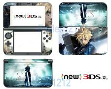 Anime Final Fantasy VII Vinyl Decals Skin Stickers for Nintendo New 3DS XL 2015