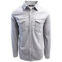 Jack & Jones Men's Light Grey Denim Slim Sheridan L/S Shirt (Retail $59.50)