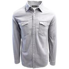 Jack & Jones Men's Light Grey Denim Slim Sheridan L/S Shirt (Retail $59.50)