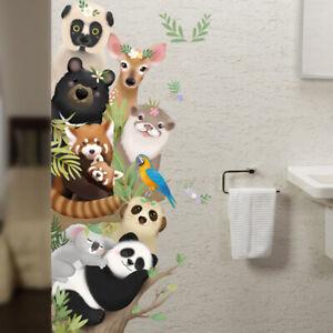 Removable Wall Stickers Nursery Safari Animals Peek-a-boo Koala Panda Meerkat AU