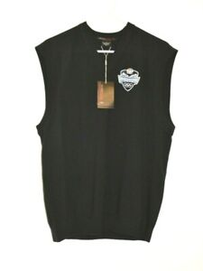 NWT Nike Tiger Woods Collection Black Wool Sweater Vest Men's Med 2010 Olympics
