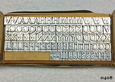 Howard Personalizer Machine - 36pt. Cheltenham Initials - Hot Foil Stamping