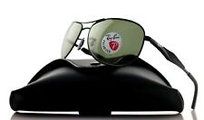 POLARIZED New RAY-BAN Active Matte Black Green Aviator Sunglasses RB 3519 006/9A