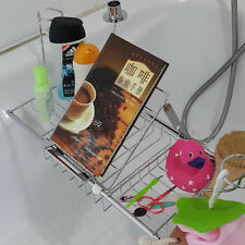 Bathtub Tray Rack Shower Tub Book Tablet Expandable Stand w/Reading Holder Metal