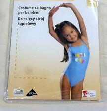 Badeanzug Mädchen Spaghettiträger blau Größe 104