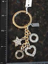 COACH Star, Heart, & Circles Rhinestone Key Ring/ Key Fob Keychain NWT