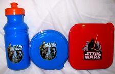 Star Wars CP3PO,R2D2,Darth Vadar,BB-8 3pc mealtime-sandwich,snack + water bottle