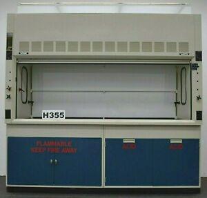 8' Chemical Fume Hood w/ Flammable & Acid Cabinets / Hamilton Safeaire/  E1-465