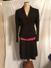 Calvin Klein Womens Skirt Suit in Brown, Size 2