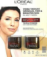 2X- ANTI AGING MOISTURIZER L'OREAL PARIS FACE SKIN CARE REVITALIFT TRIPLE POWER
