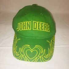 Womens John Deer Hat Structured Cap Velcro Adjust Back