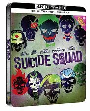 SUICIDE SQUAD 4K UHD + BLU RAY 2-DISC STEELBOOK EXTENDED CUT EDITION BOX SET