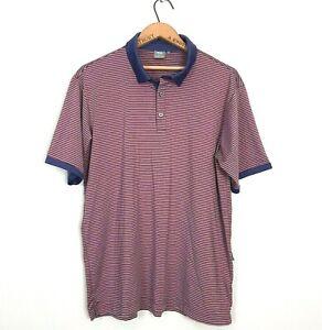 Ping Mens Size XL Blue Red Striped Short Sleeve Golf Polo Shirt Sensorcool