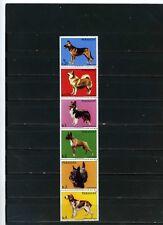 PARAGUAY 1986 Sc#2181 faune chiens Bande de 6 Timbres MNH