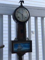 Bulova Antique Wall Clock Electric Marine Motif Working