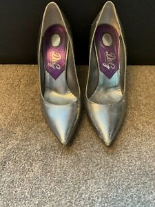 D&G Dolce and Gabbana Silver Shoes Ladies Women High Heels Size 6 (39) Used