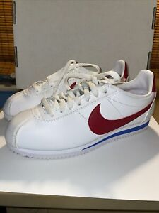 Women's Size 7 - Nike Classic Cortez White Red Blue