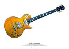 Paul KOSSOFF'S 1959 Sunburst Gibson Les Paul ART POSTER FORMATO A2