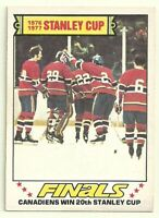 1977 77-78 OPC O-PEE-CHEE MONTREAL CANADIENS STANLEY CUP FINALS #264 EX-MT+