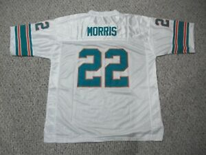 MERCURY MORRIS Unsigned Custom Miami White Sewn New Football Jersey Sizes S-3XL