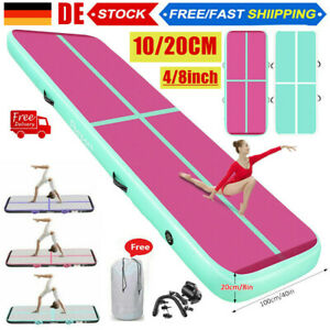 Fbsport 20CM Air Track Aufblasbar Tumbling Gymnastikmatte Airtrack Matte +Pumpe