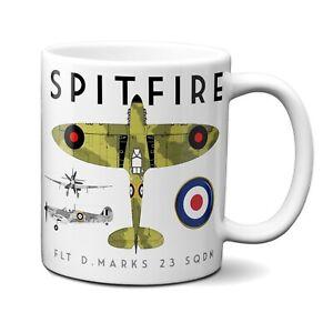 Personalised SPITFIRE Bomber Mug Cup RAF WW Fighter Plane Tea Coffee BPM08