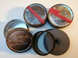 3 Cans Of Vintage Kodak 16mm Cine Film