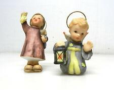 "2 Goebel Hummel Christmas Ornaments 3"" Girl w/Doll 1997 2.5"" Angel 2000 T01"